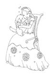Princess with Dog Coloring Page