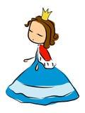 princess doodle иллюстрация вектора