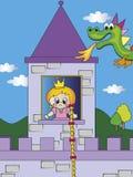 Princess and dragon Royalty Free Stock Photography