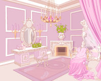 Princess dressing room. In a palace stock illustration