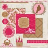 Princess dziewczyna urodziny set Obraz Stock