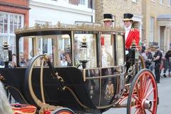 Princess Eugenie & Jack Brooksbank Windsor, Uk - 12/10/2018: Princess Eugenie & Jack Brooksbank wedding procession parade through stock images