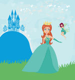 Princess and fairy Royalty Free Stock Images