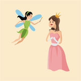 Princess and fairy tale character Stock Image