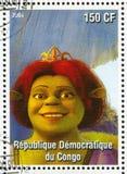 Princess Fiona. CONGO - CIRCA 2004: stamp printed by Congo, shows cartoon character Shrek, Princess Fiona, circa 2004 Royalty Free Stock Images