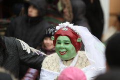 Princess Fiona on Malanka Festival in Chernivtsi Royalty Free Stock Photos