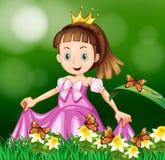Princess in the flower garden Royalty Free Stock Photos