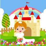 Princess with flowers royalty free stock photos