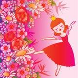 Princess with flowers. Stock Photos