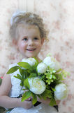 Princess with flowers Stock Photography