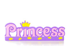 Princess Frame. Word spells princess in pink and purple letters Royalty Free Stock Images