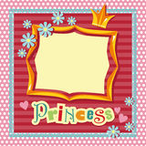 Princess frame. Frame in the style of scrap-booking for a princess Royalty Free Stock Photos