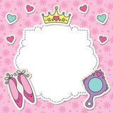 Princess frame Stock Images