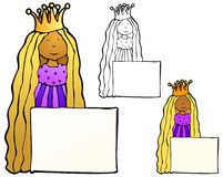 Princess Frame Stock Photography