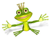 Princess frog Royalty Free Stock Photos