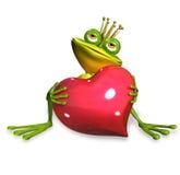 Princess frog. Abstract illustration of the green frog princess Royalty Free Stock Photo