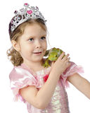 Princess and a Frog Stock Images