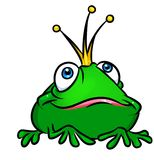 Princess frog cartoon illustration Stock Photography