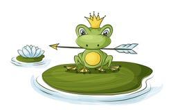 Princess frog Vector Illustration