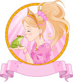 Princess and Frog Royalty Free Stock Photo
