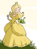 Princess and frog Stock Images