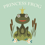 Princess frog Royalty Free Stock Image