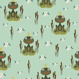 Princess frog seamless pattern Royalty Free Stock Images