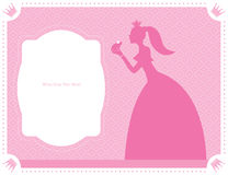 Princess and frog template design. This is template card design.  file Royalty Free Stock Photography