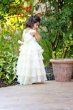 Princess in the garden Stock Image