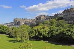 Princess gardens in Edinburgh, Scotland Stock Photo