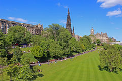 Princess gardens in Edinburgh, Scotland Stock Photo