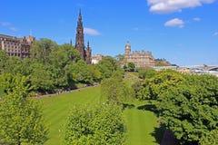 Princess gardens in Edinburgh, Scotland Stock Photos