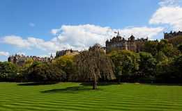Princess Gardens. Edinburgh. Scotland. UK. royalty free stock images