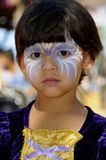 Princess Gaze. Young Girl with Matching Face Painting and Princess Outfit Stock Photography