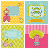 Princess Girl Card Set Stock Photo