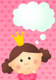 Princess girl dreams Stock Images