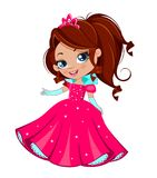 Princess girl. In elegant  dress   on a white background Royalty Free Stock Photography