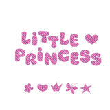 Princess girl lettering Stock Photography