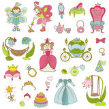Princess Girl Set Royalty Free Stock Photos