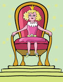 Princess girl on throne Royalty Free Stock Photography