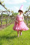 Princess girl in vineyard Royalty Free Stock Photos