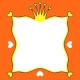 Princess Hearts Crown frame border Royalty Free Stock Photo