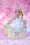 Princess with her castle Royalty Free Stock Photos