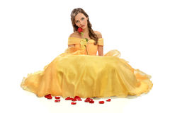 Princess Holding Rose Stock Image