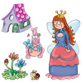 Princess with home and fore Royalty Free Stock Image
