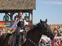 A Princess on Horseback at the Arizona Renaissance Festival Royalty Free Stock Photo