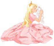 Princess i kot royalty ilustracja