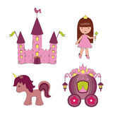 Princess icons Stock Photo