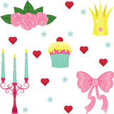 Princess icons set Stock Images