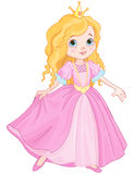 Princess. Illustration of beautiful princess dancing Royalty Free Stock Images